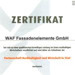 WAF-ZERTIFIKAT